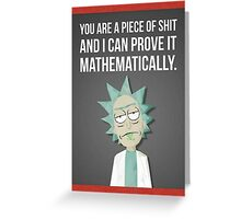 Rick And Morty - Proven Greeting Card