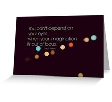 Eyes Mark Twain Greeting Card