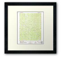 USGS TOPO Map Arizona AZ Telephone Hill 313675 1988 24000 Framed Print