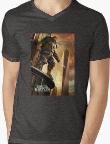 Tenage Mutant Ninja Mens V-Neck T-Shirt