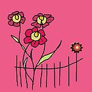 Flower behind the fence by RosiLorz