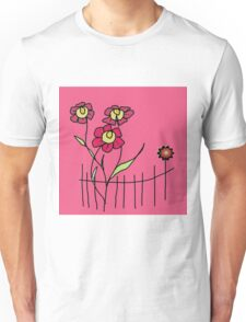Flower behind the fence Unisex T-Shirt