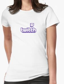 Twitch TV Logo Womens Fitted T-Shirt