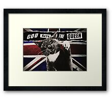 God Save The Queen Cat Framed Print