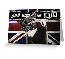 God Save The Queen Cat Greeting Card