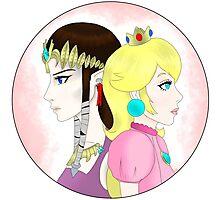 Princess vs. Princess Photographic Print