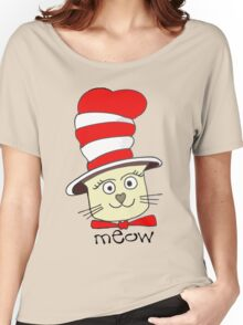 Cute Pussy Cat In A Hat Women's Relaxed Fit T-Shirt
