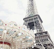 Eiffel Tower and Carousel by pamelaburns
