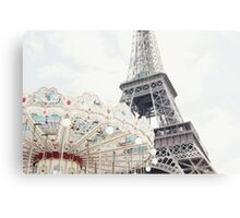 Eiffel Tower and Carousel Canvas Print