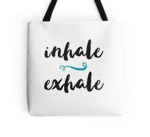 Inhale Exhale - Yoga Print Tote Bag