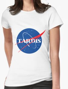 Tardis Nasa logo Doctor Who Womens Fitted T-Shirt