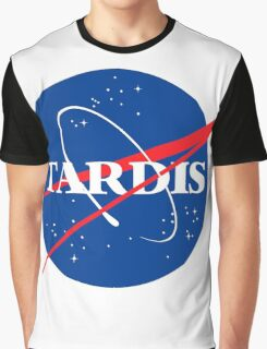 Tardis Nasa logo Doctor Who Graphic T-Shirt