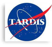 Tardis Nasa logo Doctor Who Canvas Print