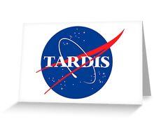 Tardis Nasa logo Doctor Who Greeting Card
