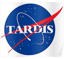Tardis Nasa logo Doctor Who Poster