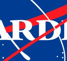 Tardis Nasa logo Doctor Who Sticker