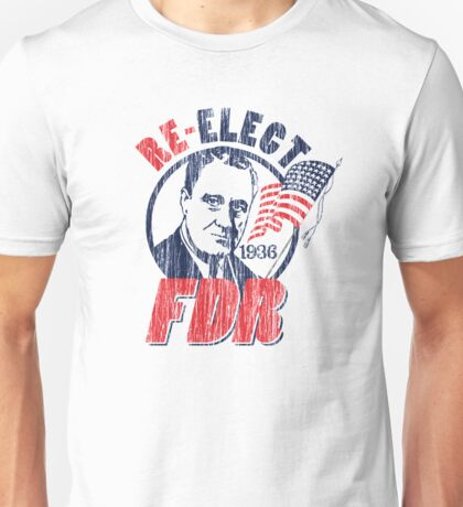 Franklin Delano Roosevelt for President 1936 Campaign Unisex T-Shirt