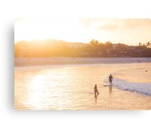 The Orange Glow of a Noosa Sunset  Canvas Print