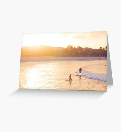 The Orange Glow of a Noosa Sunset  Greeting Card