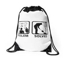Gardeing Problem Solved Funny T Shirt Drawstring Bag