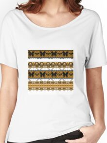 Bright abstract seamless lace pattern romantic print background Women's Relaxed Fit T-Shirt