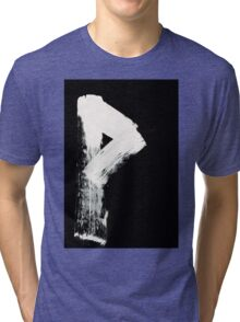 Runes - Elder Futhark - 0008 - Wunjo - Inverted Tri-blend T-Shirt