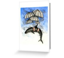 Floating Shark Greeting Card