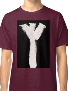 Runes - Elder Futhark - 0015 - Algiz - Inverted Classic T-Shirt