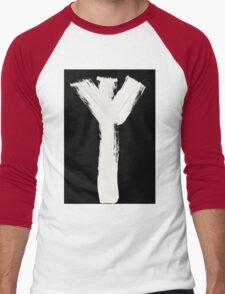 Runes - Elder Futhark - 0015 - Algiz - Inverted Men's Baseball ¾ T-Shirt