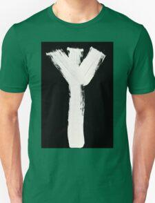Runes - Elder Futhark - 0015 - Algiz - Inverted Unisex T-Shirt