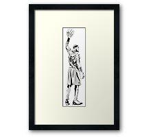 JAMES LEBRON art black white NBA Framed Print