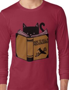CAT AND BOOK Long Sleeve T-Shirt