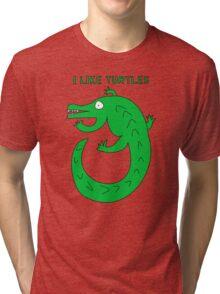 I LIKE TURTLES Tri-blend T-Shirt