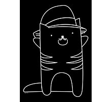 Cats Who Look Like Mraz - White Outline Photographic Print