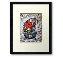Samurai Tubfish Framed Print