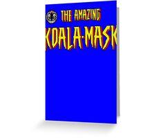 The Amazing Koala-Mask Greeting Card