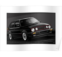 Poster artwork - Golf GTI mk2 Poster