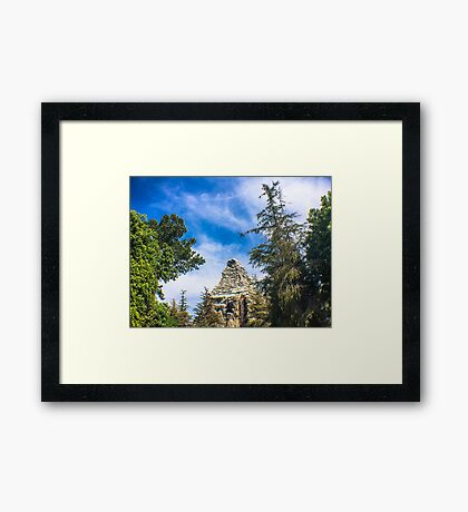 Home of the Yeti Framed Print