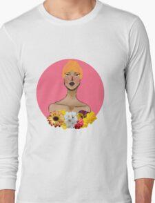 Black Flower! Femme Long Sleeve T-Shirt