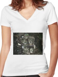 glitch decay Women's Fitted V-Neck T-Shirt