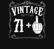 Vintage middle finger salute 72nd birthday gift funny 72 birthday 1944 Unisex T-Shirt