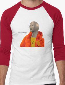 cool and nice (transparent version) Men's Baseball ¾ T-Shirt
