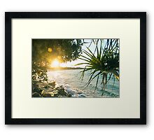 Last of the Days Rays Framed Print