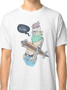 Vegan Hipster Classic T-Shirt