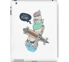 Vegan Hipster iPad Case/Skin
