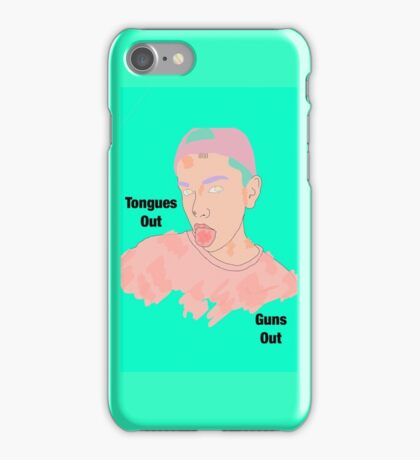 Tongues Out, Guns Out Pop Art iPhone Case/Skin