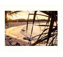 Longboard at Sunset Art Print