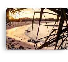 Longboard at Sunset Canvas Print