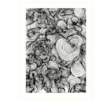 Squiggles on your iPhone - Psychedelic Art Art Print