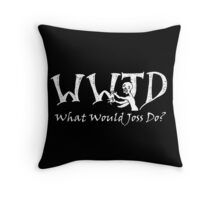 What Would Joss Do? (white) Throw Pillow